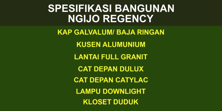 Spesifikasi Bangunan Ngijo Regency, Perumahan Ngijo Regency, Makmur Property, MP Team